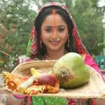 rani chatterjee in chhath puja