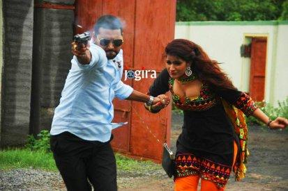 bhojpuri film rangdari tax shooting stills