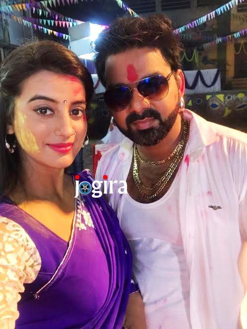 pawan singh and akshara-singh in bhojpuri film satya