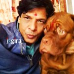 biraj bhatt with his dog