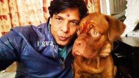 biraj bhatt with his dog
