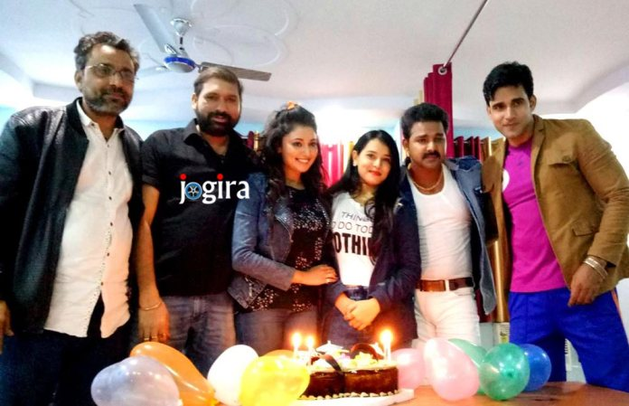Sonam's birthday on the sets of Bhojpuri film Wanted