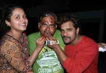 Khesari lal and Kajal Raghawani celebrated birthday of Dev Pandey