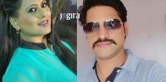 sangeeta tiwari and rakhesh mishra bhojpuri film superstar radhe rangeela
