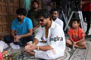 भोजपुरी फिल्म राजा हिन्दुस्तानी के मुहूर्त में खेसारीलाल यादव