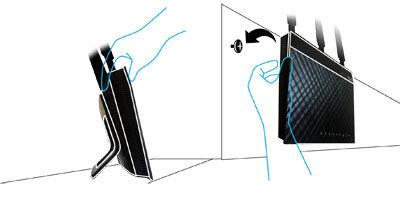 Asus RT-AC66U Flexible Installation with Versatile Design