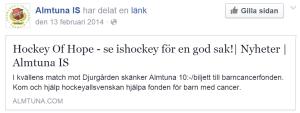 Almtunas Facebook-sida från förra säsongen.