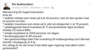 Faksimil från facebook-sida