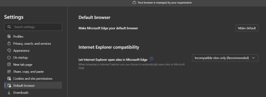 Missing Internet Explorer sites in Microsoft Edge
