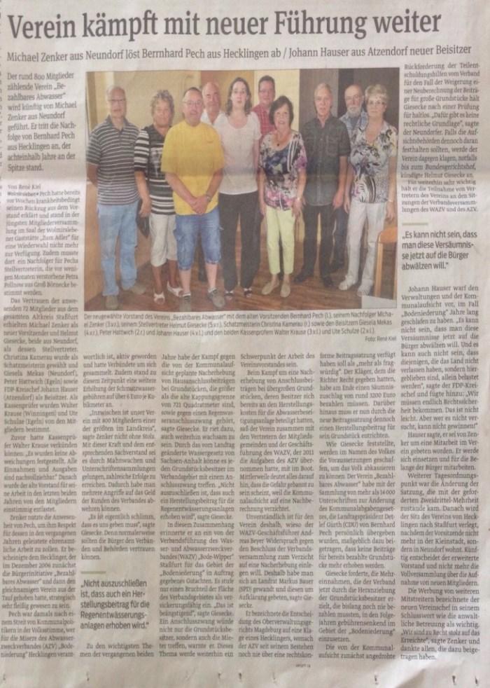 Zeitungsartikel vom 23.06.15
