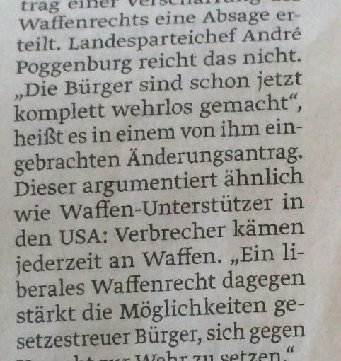 Zeitungsartikel vom 19.04.2016 (Volksstimme Staßfurt)