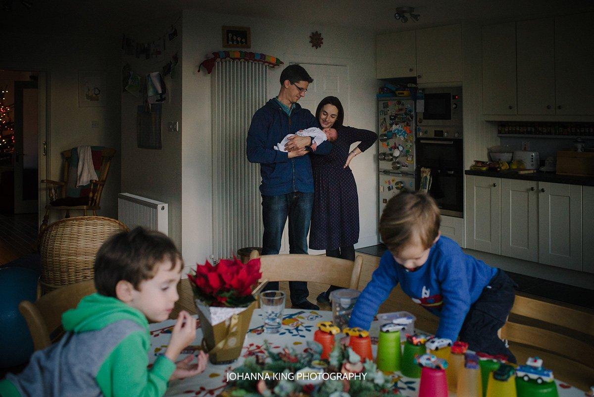 Newborn home documentary session Dublin