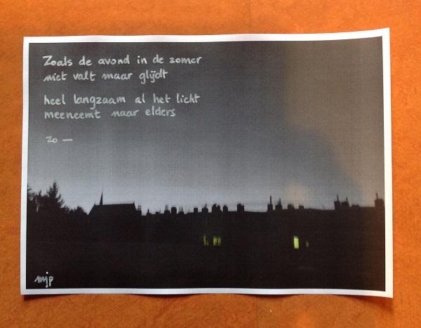 Vallen (c) foto, tekst en handschrift: johanna pas