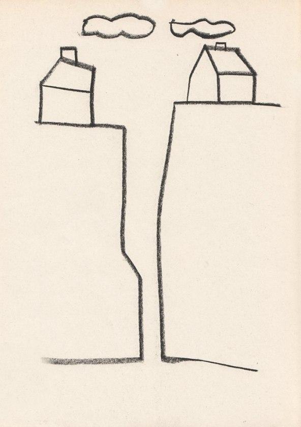 (c) tekening: Didier Van De Steene (De kloof tussen het subject en het object)