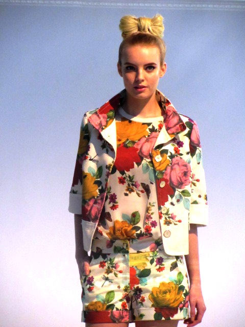 Ted Baker SS12 floral jacket floral tee floral shorts