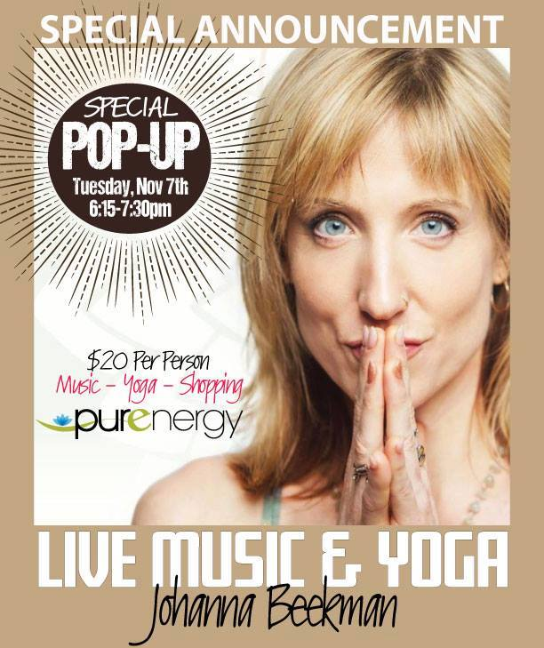 Pop Up Live Music Yoga poster