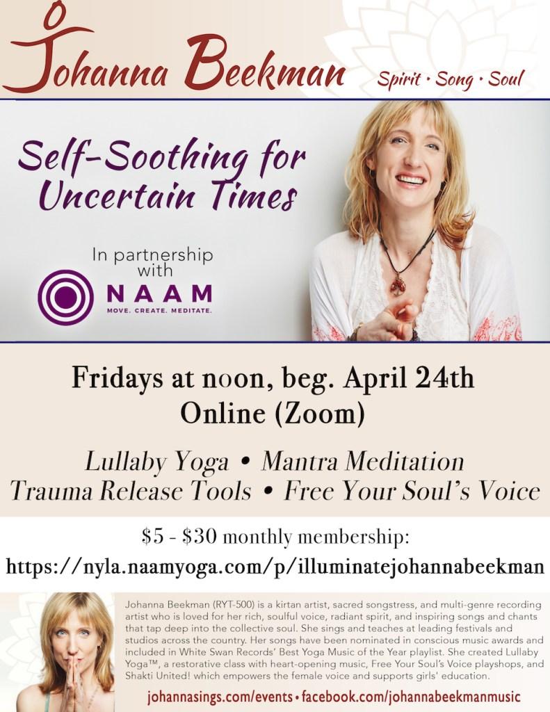 2020 Johanna Poster Naam Yoga course copy