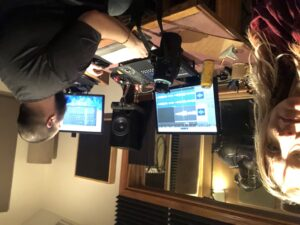 Recording with Alex Milstead and Saeeda Wright