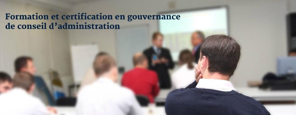 Formation et certification en gouvernance de conseil d'administration