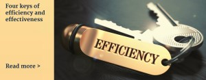 Four keys of efficiency and effectiveness