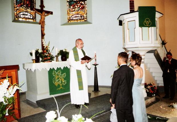 Evangelische Trauung, Juli 2007, Kirche Mengersgereuth-Hämmern