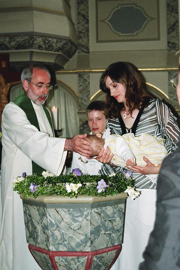 Taufe in der Kirche zu Kittesthal, Mai 2007