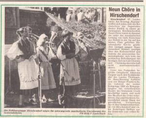 """Kirchenfest Hirschendorf am Sonntag """"Kantate"""" 1992."""