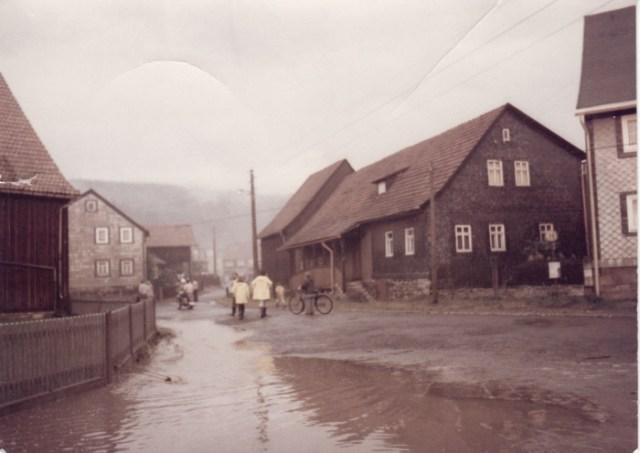 Hochwasser im Hirschgraben 1980