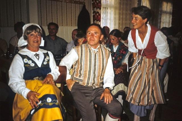 Mitglieder der schwedischen Tanzgruppe.