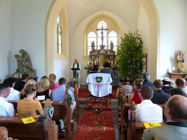 Evangelische Hochzeit im Eichsfeld, Juli 2013