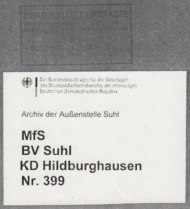 Deckblatt zum Bericht 1989