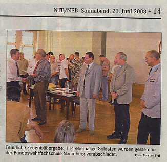 Naumburg Zeugnisübergabe