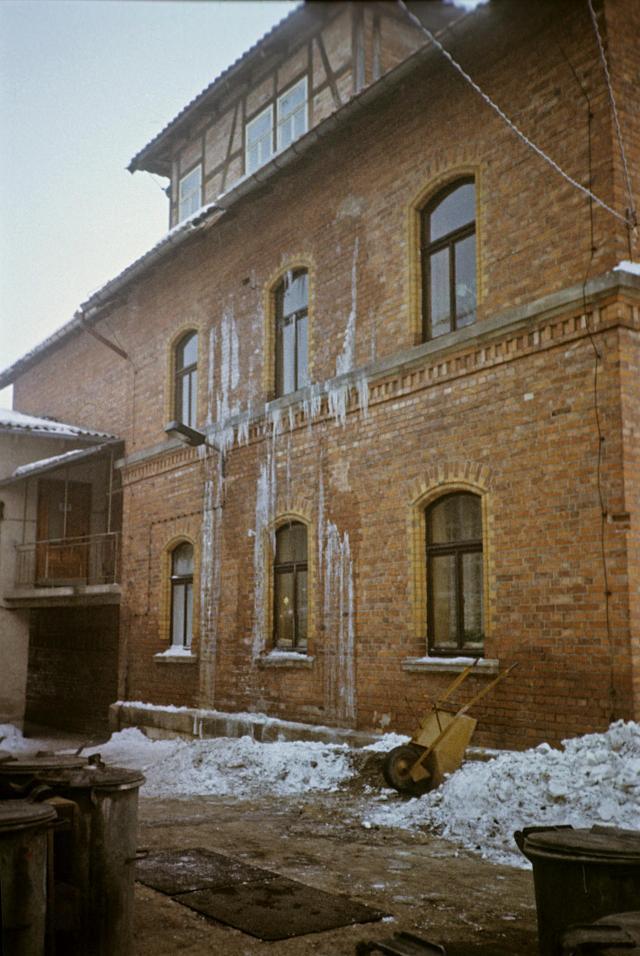 Wasserrohrbruch in der alten Schule.