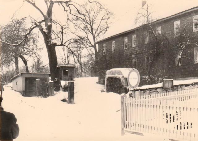 Pfarrhaus im Schnee 1980