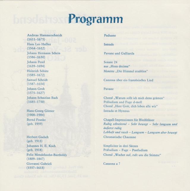 Programm Konzert Güttler