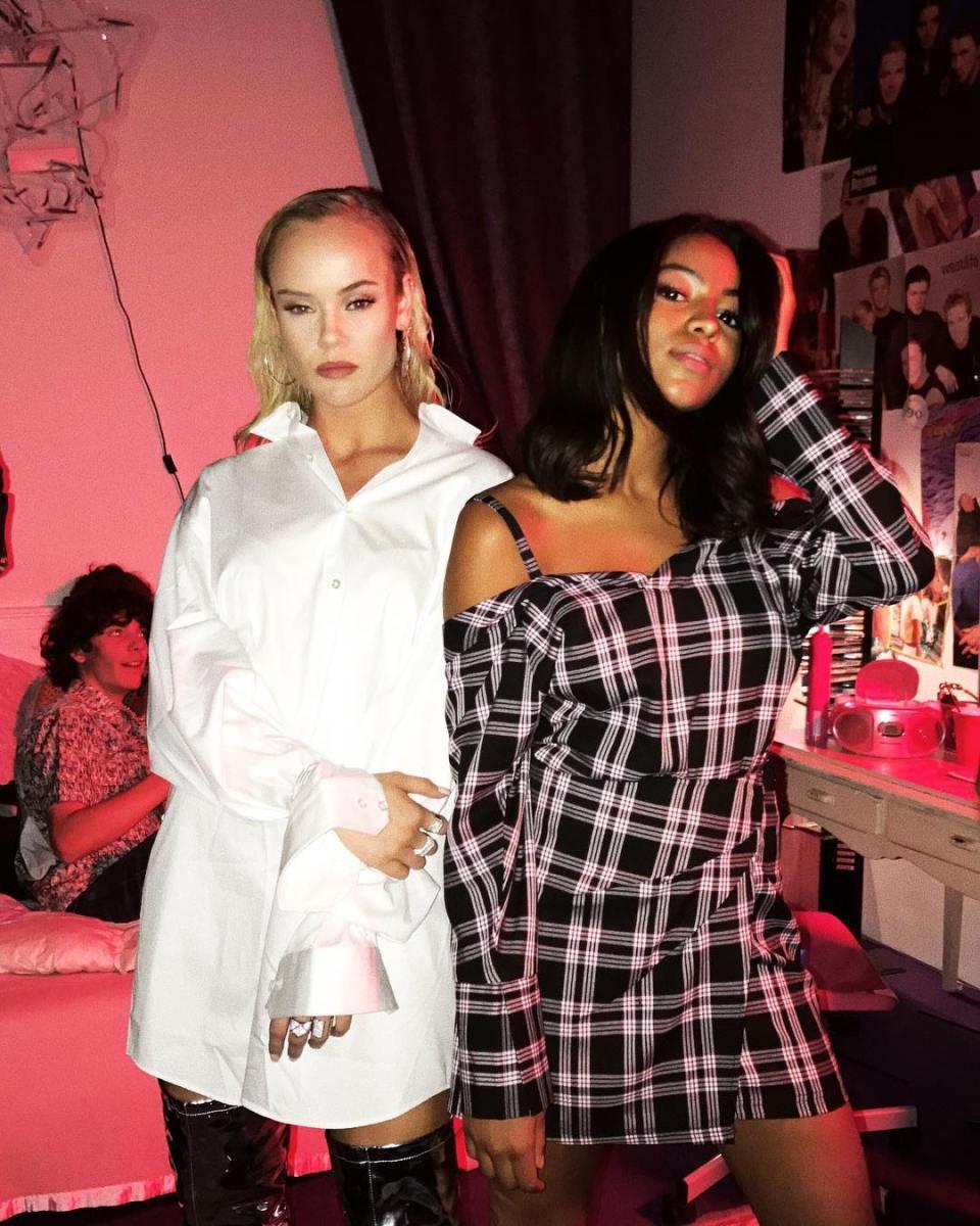 Amanda Winberg och Awa Santesson Sey för Stockholm Fashion Week Afterparty med Nelly.com och Suavoo