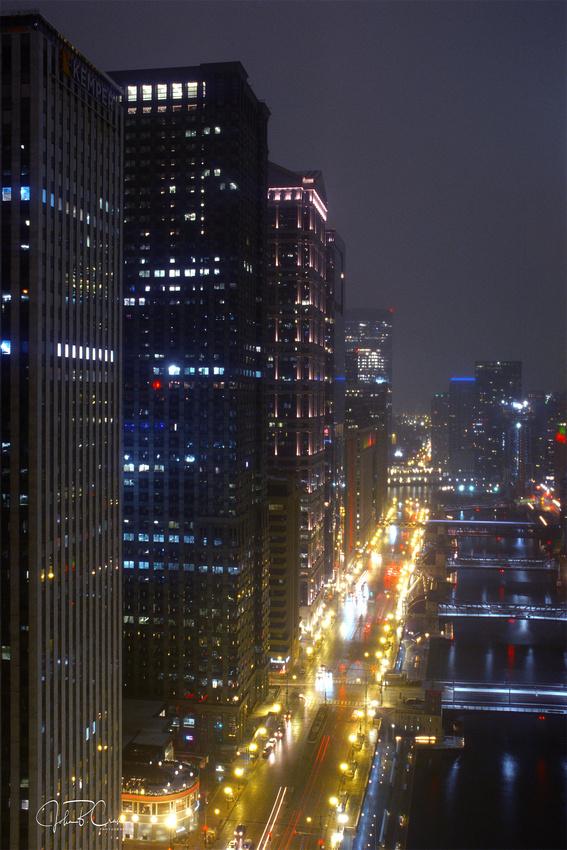 Upper Wacker and Chicago River, Chicago, Illinois (2018).