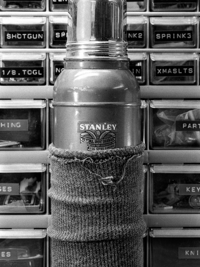 STANLEY Thermos, photographed using Nikon's Creative Lighting System (CLS). CLS makes it easy and fun to use off-camera flash shooting film - and you can only use Nikon's CLS with the Nikon F6.