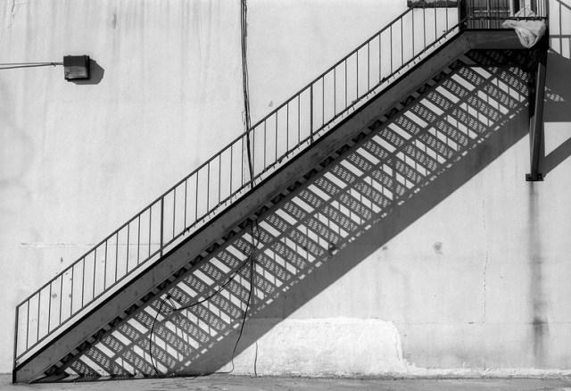 Architecture and Shadows, staircase, Denver, Colorado
