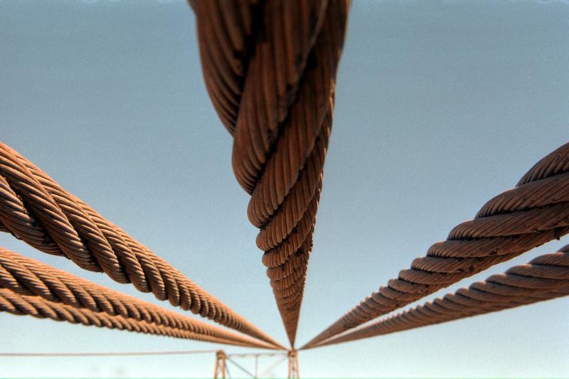 Suspension bridge over Little Colorado River, Cameron, Arizona (2013)