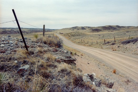 Horse Creek Road - South, Wyoming. Nikon F2, Kodak Portra 160 developed in Cs41 Color Simplified Kit from Cinestill.