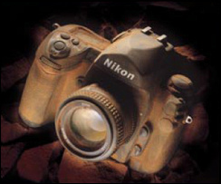 Weather sealing on the Nikon F6 is as good as it gets. This image is from one of Nikon's advertising pamphlets describing how the camera was immersed in intense dust for prolonged periods with no ill-affects.