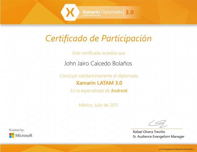 Diplomado Xamarin LATAM 3.0 – Especialidad Android