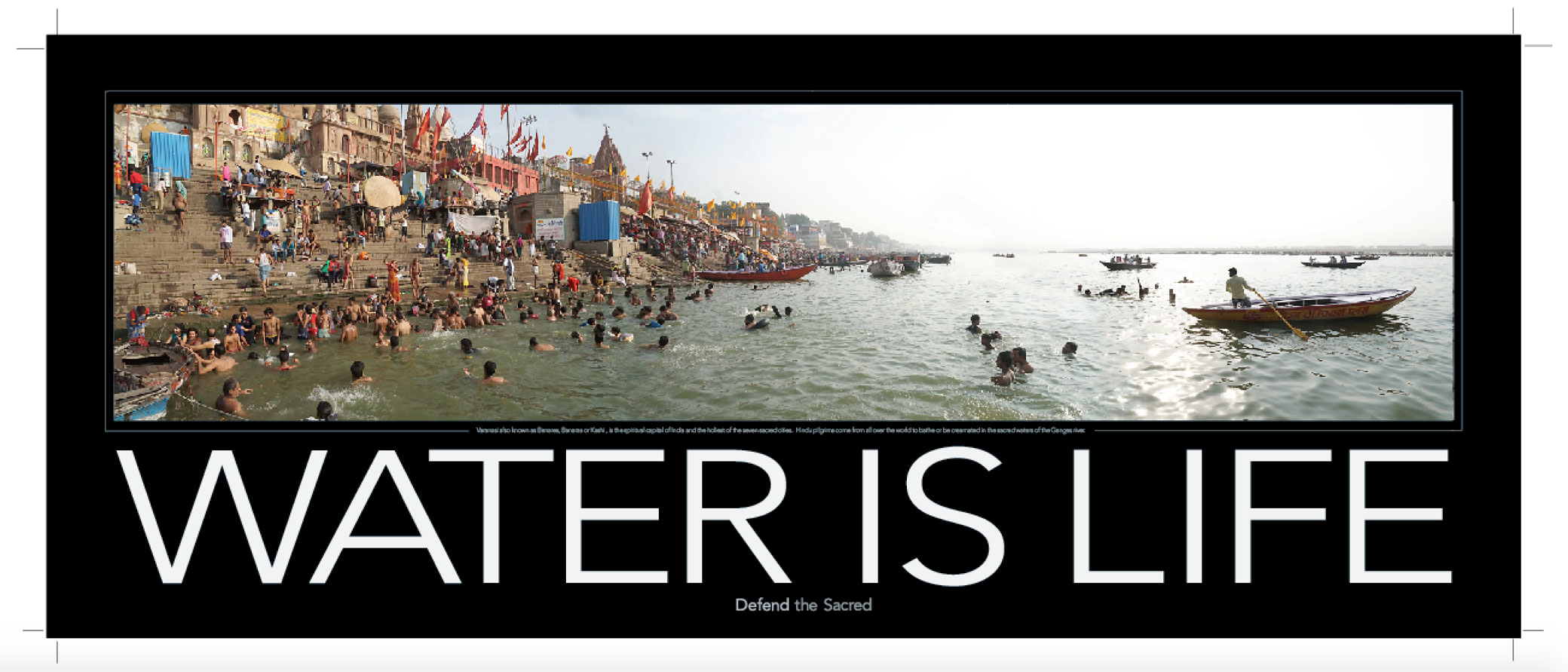 Water is Life poster from Varanasi, India
