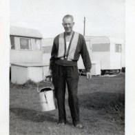 Grandad Sam Cooper camping