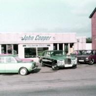 The original show room in Messingham John Cooper car sales 1982