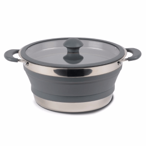 Kampa Dometic Collapsible Saucepan 3L Grey – Collapsible Kitchenware