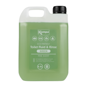 Kampa Dometic Green Toilet Fluid & Rinse 2.5L – Eco-Friendly Chemicals
