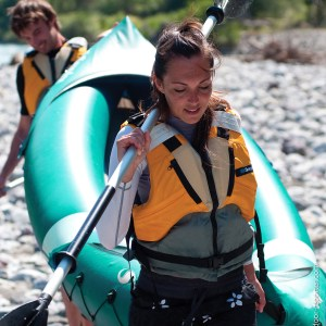 Sevylor Riviera – 2 Person Canoe with 1 Paddle