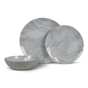 Kampa Dometic Marble 12pc Set – Melamine Tableware